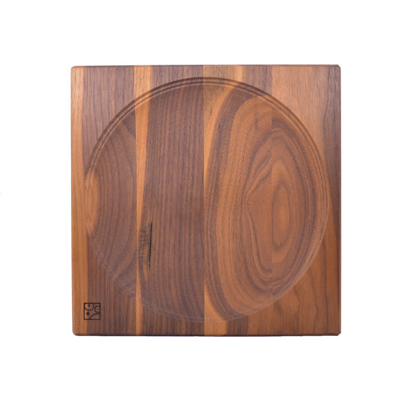 Mader Walnut Wooden Plate for Spinning Top - 25cm