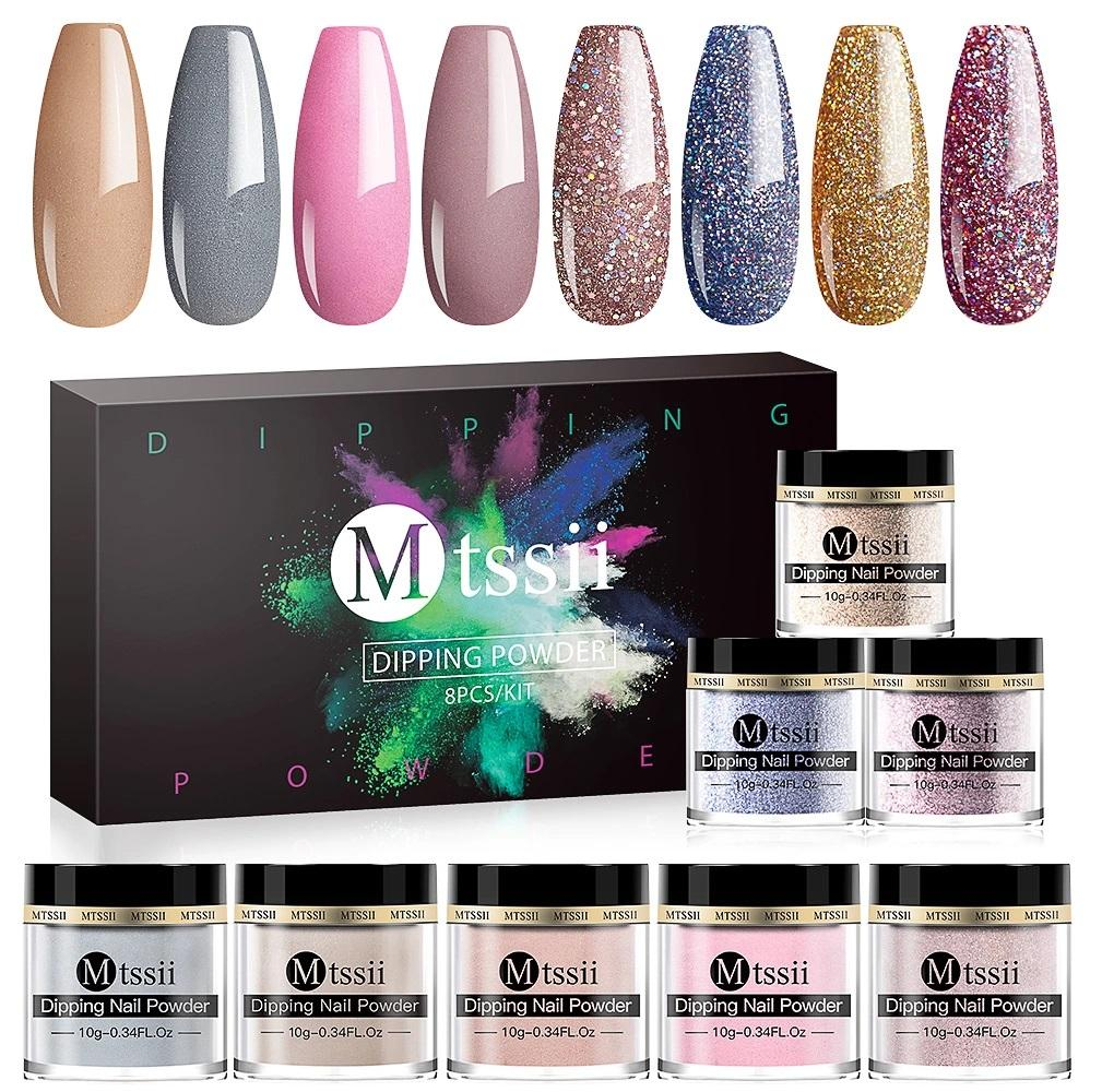 Dipping Powder Nail Art Manicure Polish Starter Set, 8/setKiraVogue