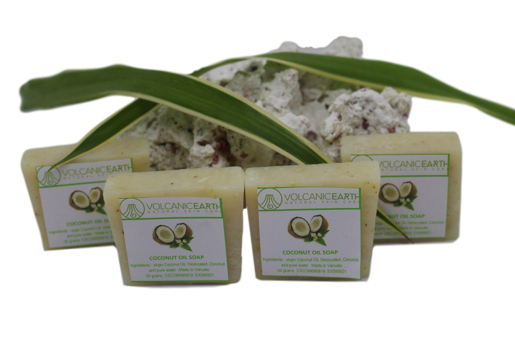 Organic Coconut Oil Soap Coconut Oil - Pack of 4 (small) Soaps - KiraVogue