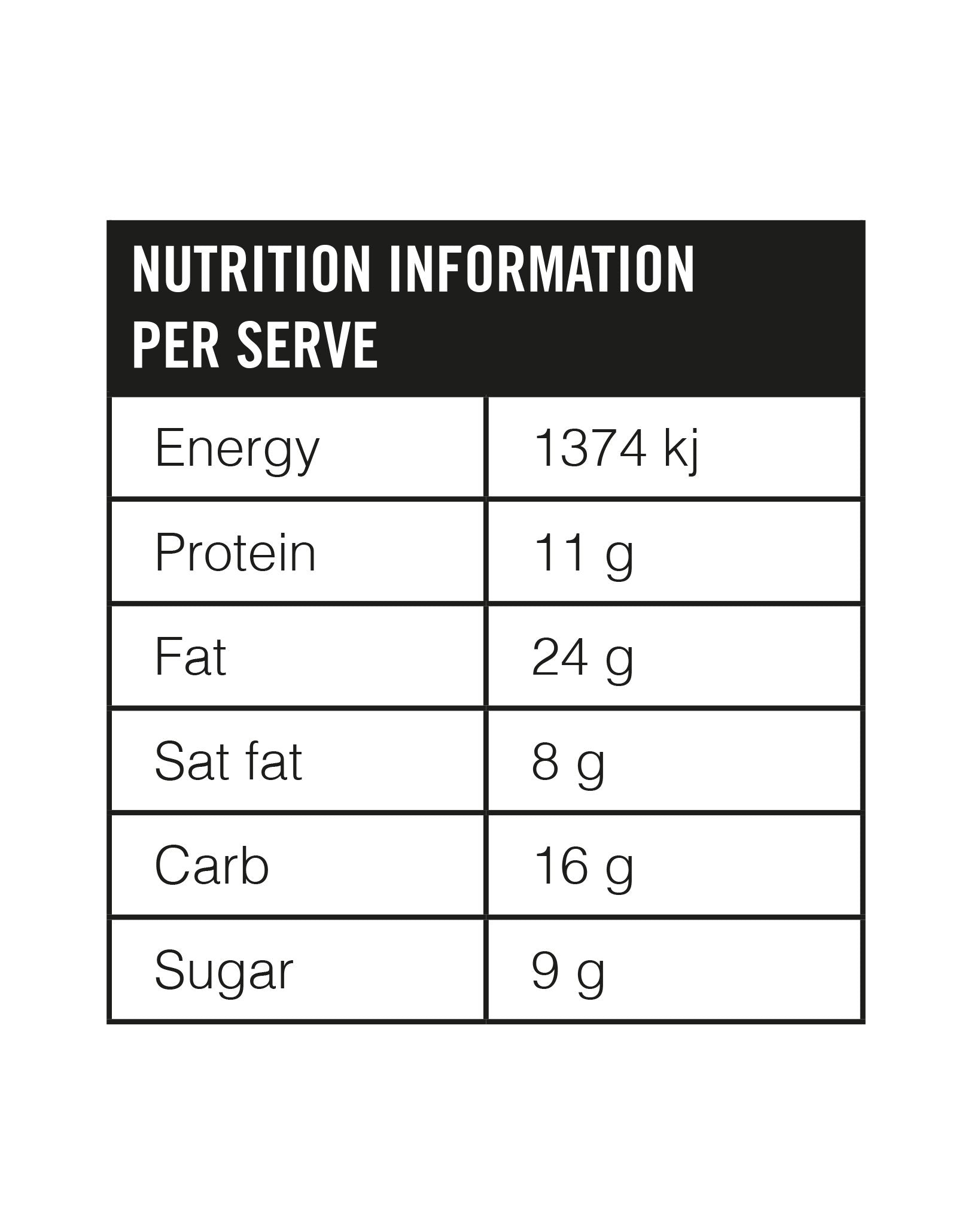 Snickers Smoothie Pops Nutritional Info