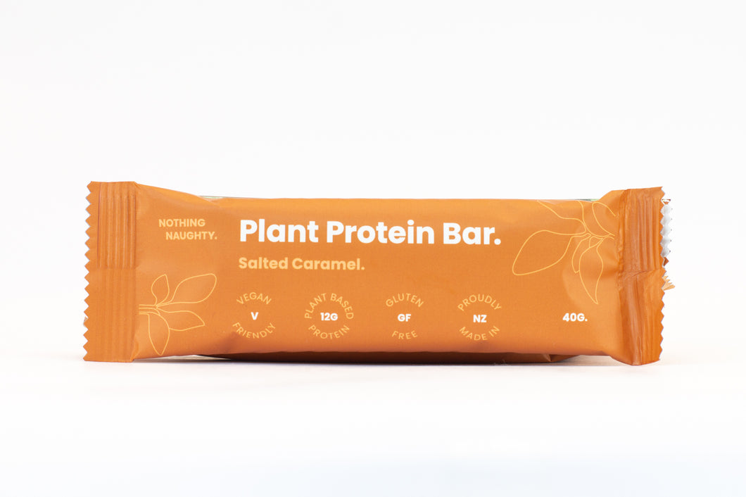 Nothing Naughty Plant Protein Bars (Box of 12) - Salted Caramel