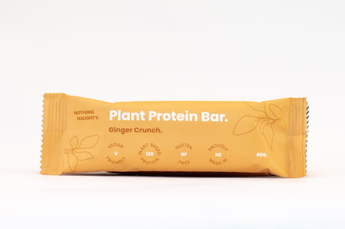 Nothing Naughty Plant Protein Bars (Box of 12) - Ginger Crunch