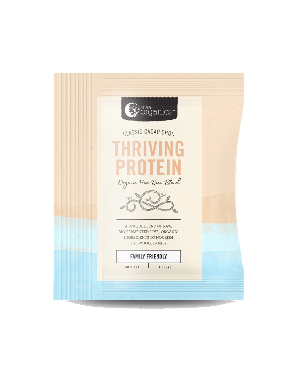 Nutra Organics Thriving Protein - Cacao Choc *Single Serve Sachet*