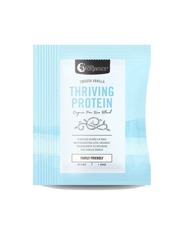 Nutra Organics Thriving Protein - Smooth Vanilla *Single Serve Sachet*