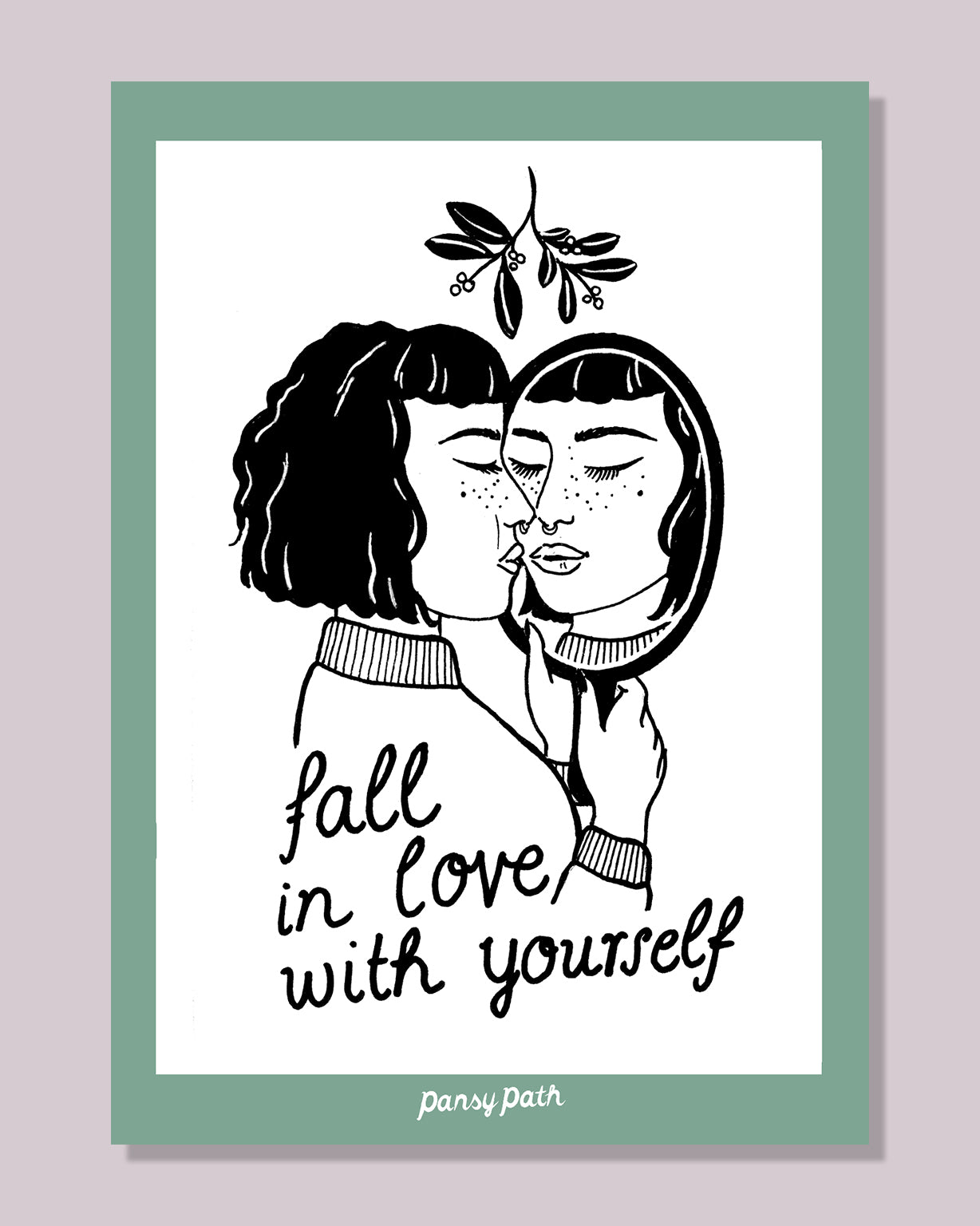 Fall in Love Postkarte