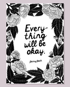 Everything will be okay A4 Poster Print