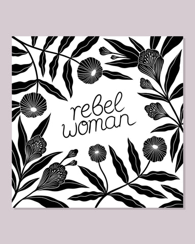 Rebel Woman Postkarte