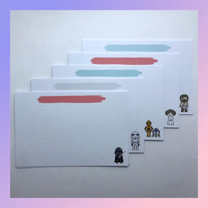 Set de 25 Flashcards Starwars