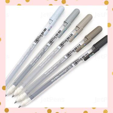 Set 5 Gelly Roll Moonlight tonos grises 0,5mm - Sakura
