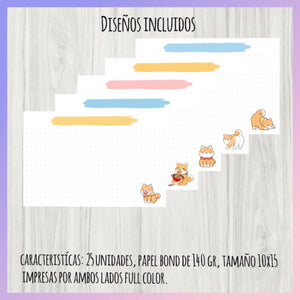 Set de 25 Flash Cards Shiba inu