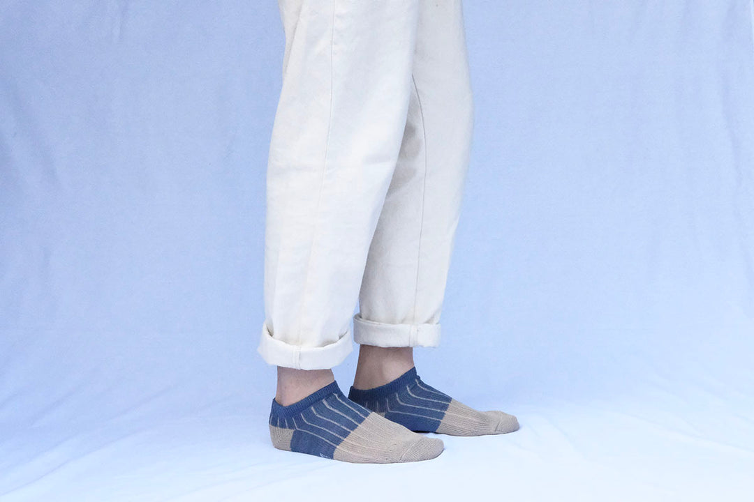 LINEN COTTON ANKLET M