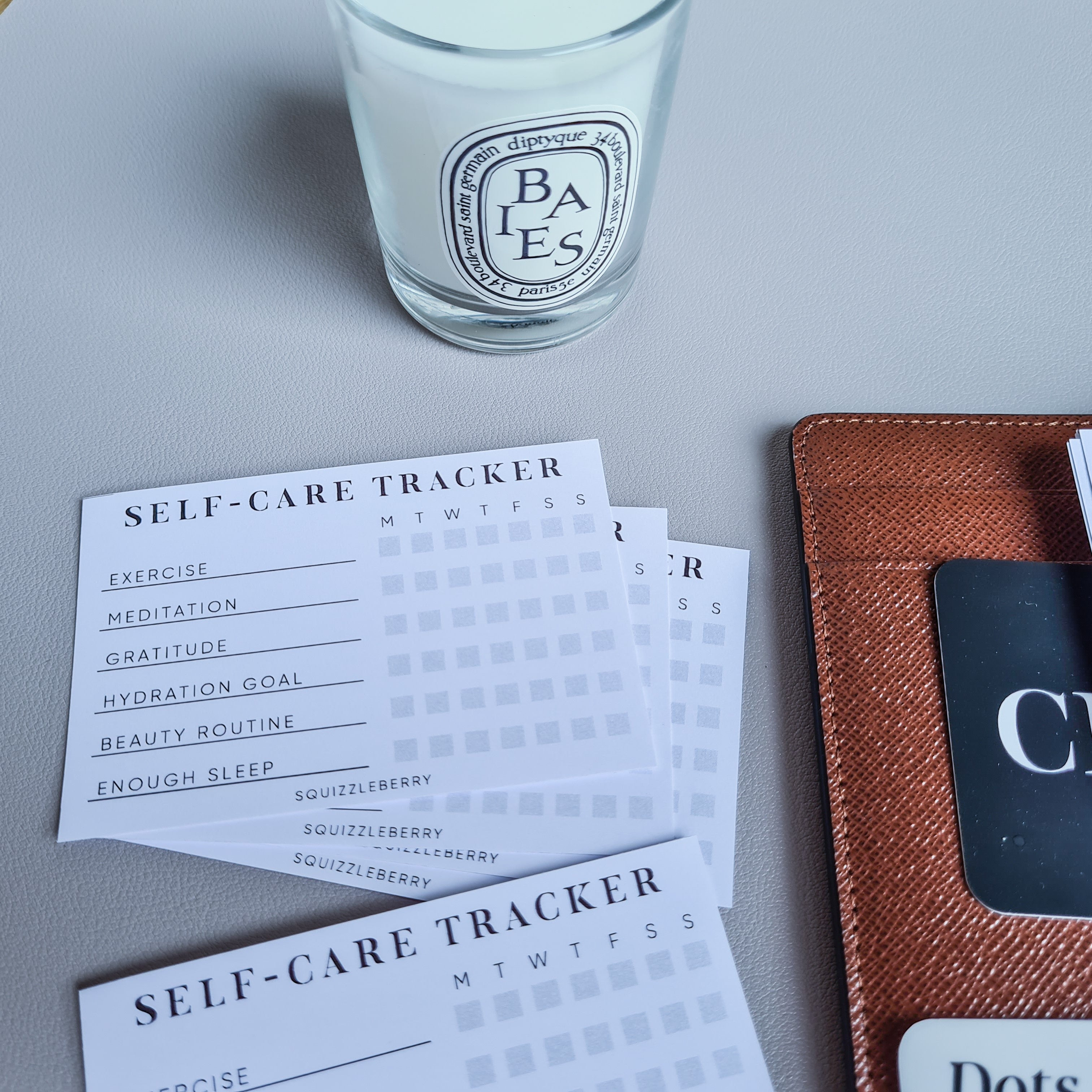 self care planner cards weekly habit trackers
