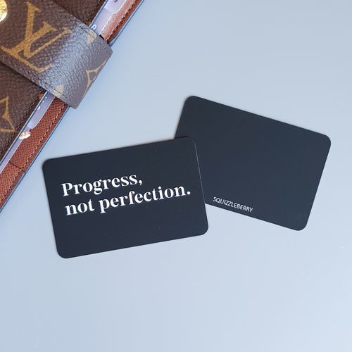Progress, not Perfection - Pocket Card | SquizzleBerry