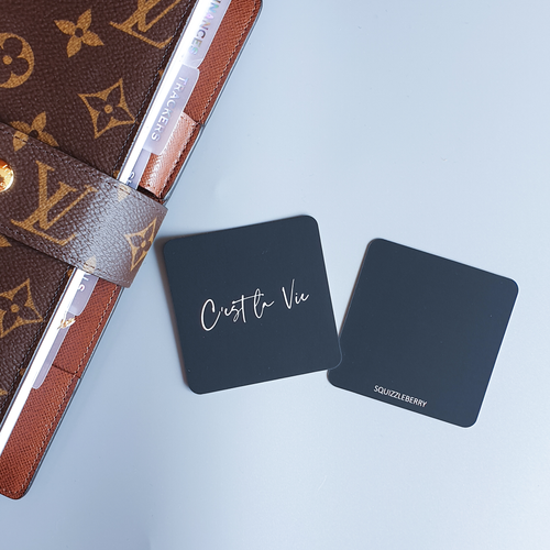 C'est la Vie - Square Card | SquizzleBerry