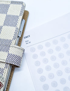 Grey - Dots - Stickers | SquizzleBerry