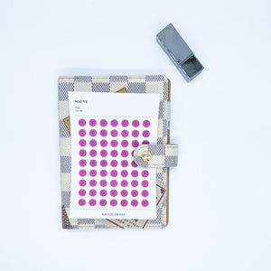 Mauve - Dots - Stickers