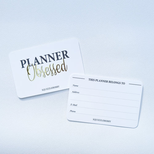 Planner Obsessed II - Pocket Card | SquizzleBerry