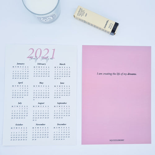 2021 Calendar Card | SquizzleBerry