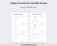 Load image into Gallery viewer, Dated - Monthly Income Tracker - Personal