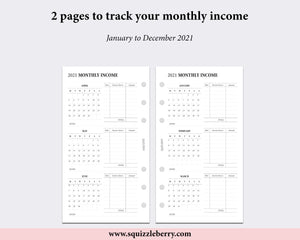 Dated - Monthly Income Tracker - Personal