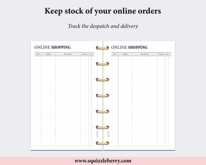 Online Shopping Tracker - Mini HP | SquizzleBerry