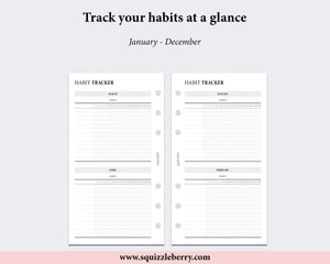 Monthly Habits - Personal | SquizzleBerry