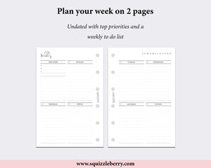 Week on 2 Pages - Pocket