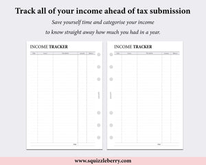 Income Tracker - A5 | SquizzleBerry