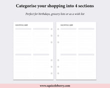 Load image into Gallery viewer, Shopping List - Personal Wide | SquizzleBerry