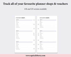Favourite Shops - Personal | SquizzleBerry