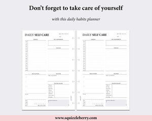 Daily Self Care Planner - Mini HP | SquizzleBerry
