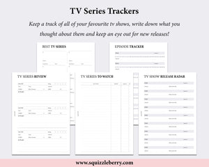 tv series tracker tv shows to watch planner inserts