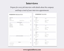 Load image into Gallery viewer, interview preparation worksheet a5 inserts
