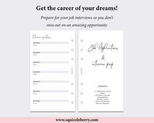 Job Search Planner Kit - Personal