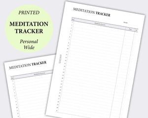 Meditation Tracker - Personal Wide