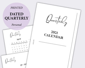 Dated - Quarterly Calendar - Personal | SquizzleBerry