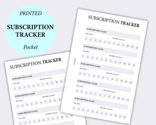 pocket planner inserts subscription tracker planning