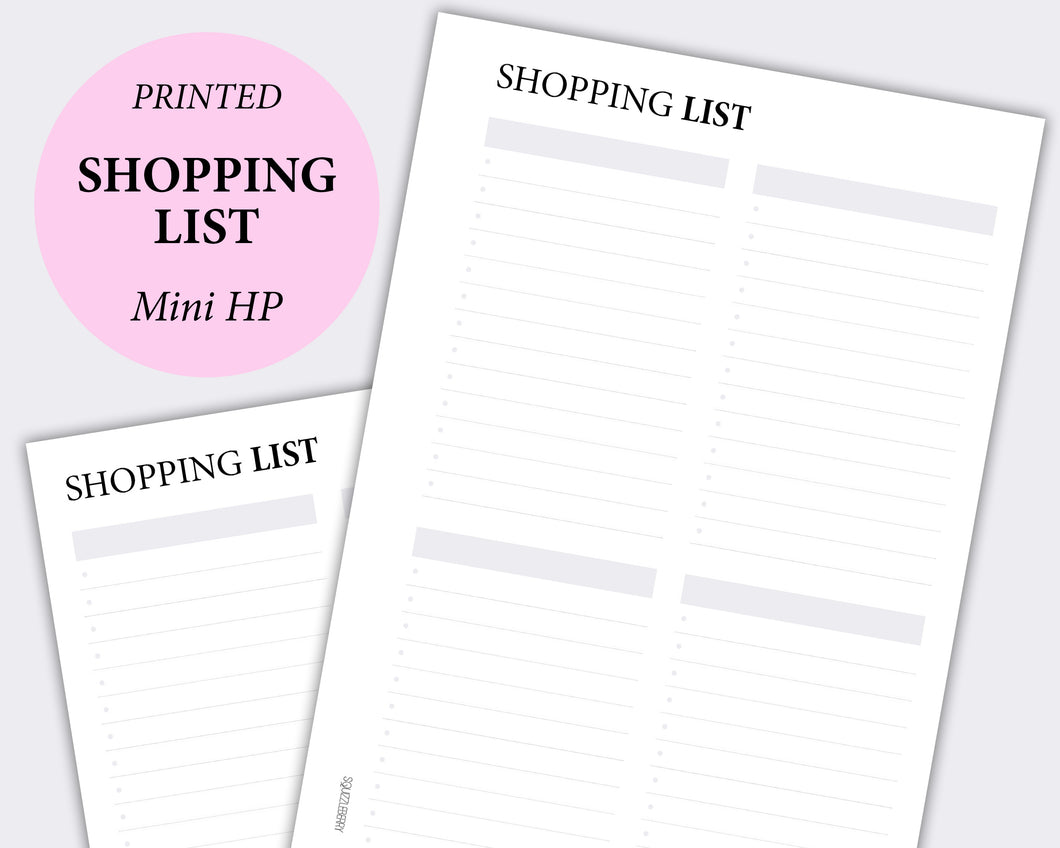 Shopping List - Mini HP | SquizzleBerry