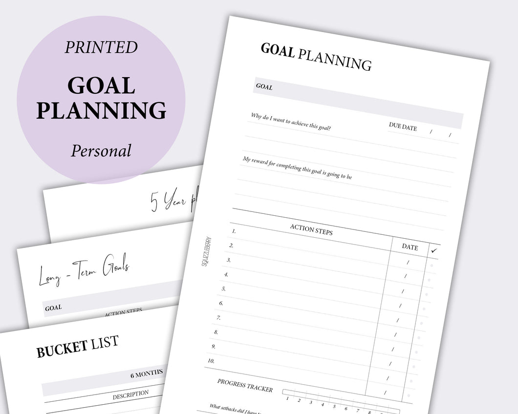 Goals Planner Kit - Personal | SquizzleBerry