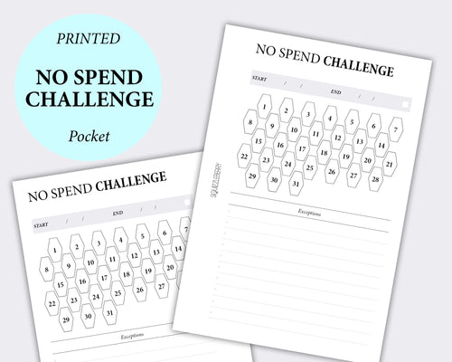 minimalist no spend challenge pocket planner inserts