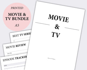 movie and tv show planner tracker inserts
