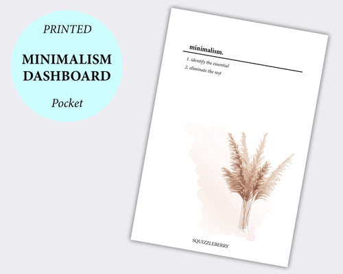 minimalism planner dashboard printed on vellum pocket paper