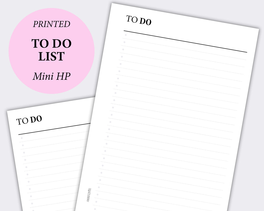 to do list minimal planner insert in mini happy planner size
