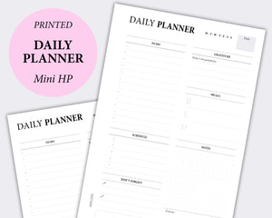 daily planner minimal planner inserts mini happy planner