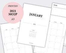 Load image into Gallery viewer, mo2p month on two pages planner calendar 2021