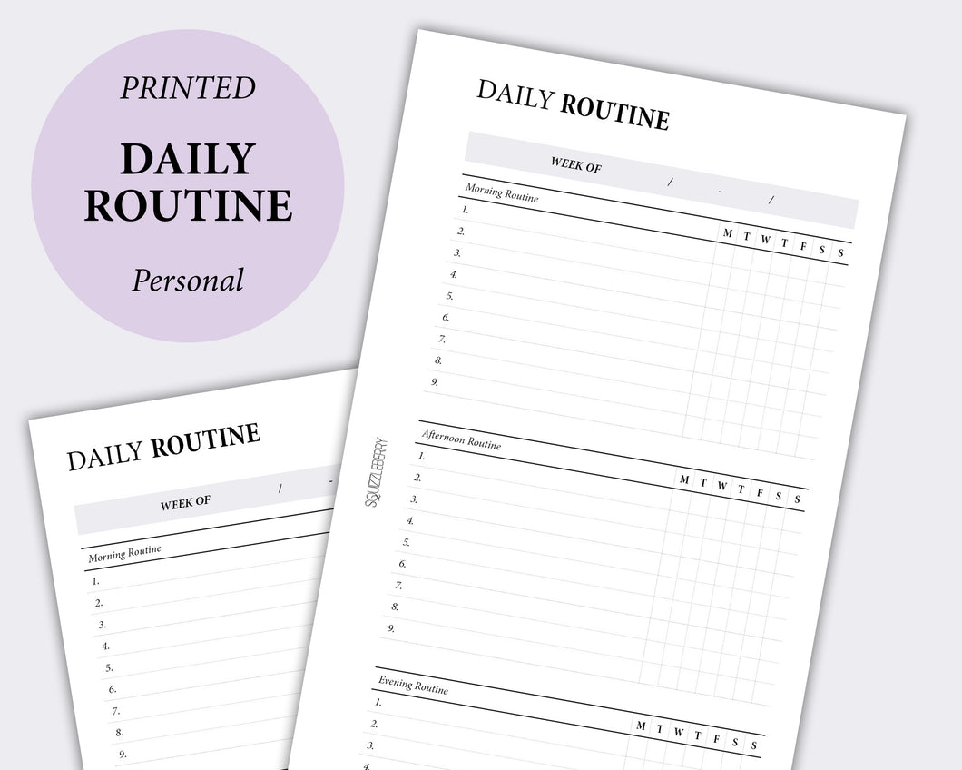 weekly routine planner habit tracker