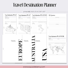 Load image into Gallery viewer, world map travel destination planner inserts