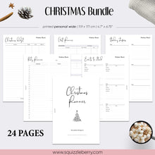 Load image into Gallery viewer, christmas planner bundle minimalist personal wide