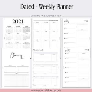 Dated - Weekly Planner - A5
