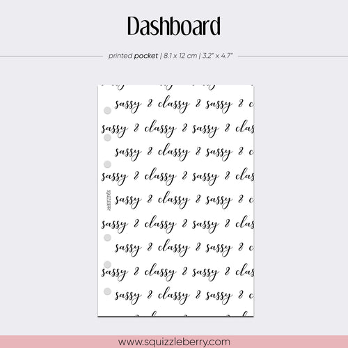 Sassy & Classy Dashboard - Pocket | SquizzleBerry
